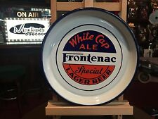 "13"" White Cap Ale Frontenac Lager Beer Quebec Canada Porcelain Serving Tray"