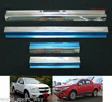 4DOORS SILL SCUFF PLATE STAINLESS FOR CHEVROLET HOLDEN COLORADO 2012-2014 16 LTZ