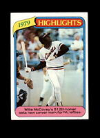 1980 Topps #2 RB Record Breaker Willie McCovey Baseball Card~ EX-MT to NM