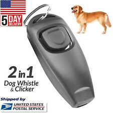 Dog Training Clicker & Whistle Click Trainer Obedience Us Seller Black Color New