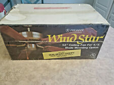"""WIND STAR 52"""" Ceiling Fan for 4 to 5 Blade Mounting Option - NEW"""