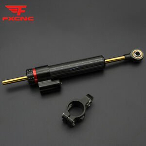 Universal Steering Damper Linear Stabilizer Reversed Safety Control Aluminum BLK