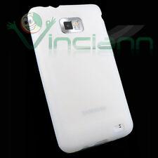 Pellicola+Custodia morbida silicone BIANCO pr Samsung Galaxy S2 i9100 Plus i9105