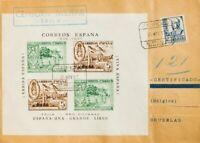 Spanien Krieg Civil. Locales. Umschlag 828. 1937. Seite Block Epila 5 Cts / Grün
