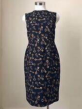 DOLCE & GABBANA Black Scattered Key-Print Dress, 10 US / 44 IT NWT $2,595