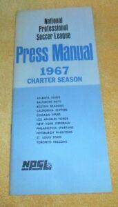 Npsl Vintage National Soccer League 1967 Press Manual Rare Authentic