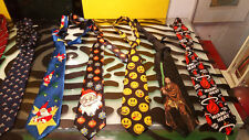 Luxury & Novelty Ties Decent shape Hugo Boss Ralph Marlin Miami Heat Lot of 10