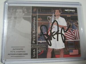 2003 NetPro #5C PETE SAMPRAS Court Authentic Autograph Auto Tennis Card #/500