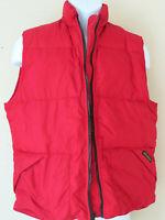 Vintage RED WOOLRICH VEST Goose Down  Womens Red Puffer Zip Zipper Puff Medium
