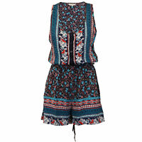 Ladies Dungaree Brave Soul Womens Jumpsuit Floral Playsuit Sleeveless Summer New