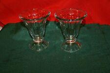 Vintage Libbey Old Fashioned Soda Fountain Ice Cream Sundae Glasses Set Of 8