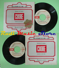 LP 45 7'' EDMONDO DE AMICIS Cuore Dagli appennini alle ande PROMO cd mc dvd*