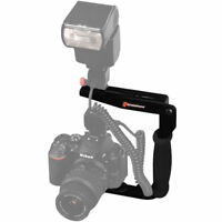 Two in One Flash Bracket Quick Flip + Camera Flip for PowerShot SX410 IS / ELPH