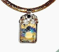 "Australian Polished Boulder Opal 34ct gemstone, 14kt yellow gold, 19"" Necklace"