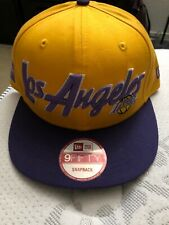 Los Angeles Lakers snapback hat New Era  9Fifty Hardwood Classic