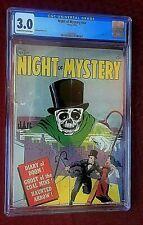 Night of Mystery NN 1953 Avon CGC 3.0 Pre Code Horror