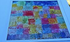 Paul Klee Poster Reprint of Colorful Landscape 18x17  Offset Lithograph