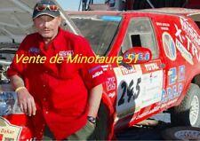 Johnny Hallyday au Dakar 2002  plastifiée
