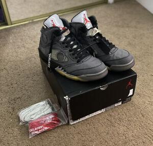 Nike Air Jordan 5 Retro SP x Off White Muslin CT8480-001 Men's Size 9