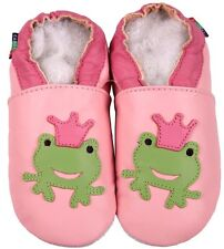 shoeszoo frog pink 6-12m S  soft leather baby shoes