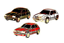Voiture pin/broches-peugeot 205 GTI noir/rouge/blanc 3 broches!!! [1221]