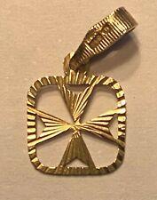 9ct Gold Maltese Cross Pendant / Charm
