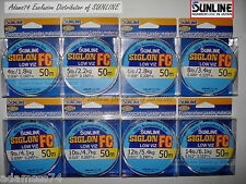 Sunline Siglon FC Fluorocarbon 55yards.50m.Super Fishing Line leader Low Visible