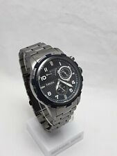 Fossil Men's Automatic Self Wind Grey Steel Band Black Dial With Date ME3039