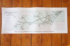 Reprint London and South Western Railway 1930's Railway Carriage Map