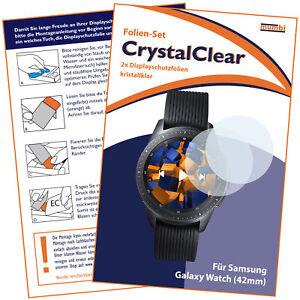 2x mumbi Folie für Samsung Galaxy Watch 42mm Displayschutzfolie Schutzfolie klar