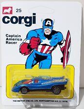 CORGI Juniors CAPTAIN AMERICA RACER Diecast Model Car In Custom 25 Blister Pack