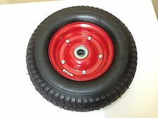 "16"" WIDE WHEEL TYRE 16 X 6.50-8 WHEELBARROW METAL RIM AIR PNEUMATIC"