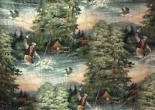 Fly Fishing Lodge Tapestry Fabric Lowest Price For One Yd. By 56 Wide