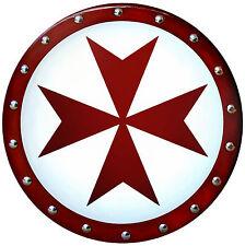 TEMPLAR CROSS SHIELD --- sca/larp/medieval/armor/maltese/knight/crusades