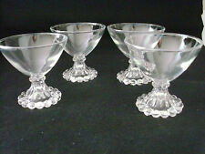 set of 4 vintage ANCHOR HOCKING BOOPIE SHERBET DISHES  clear glass