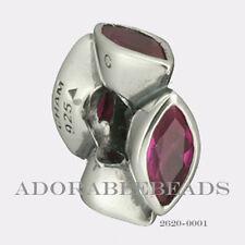 Authenitc Chamilia Soho Collection Silver Midtown Marquis Fuchsia Bead 2620-0001