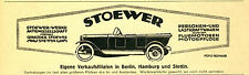 Gebrüder Stoewer Werke Stettin Orig. Reklame 1921 Cabrio car ad