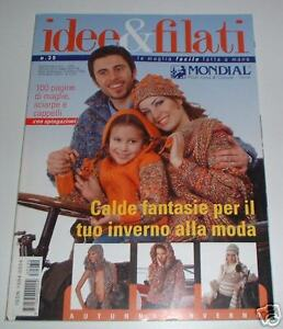 MONDIAL FALL WINTER knitting yarn pattern book #39 with 41 designs