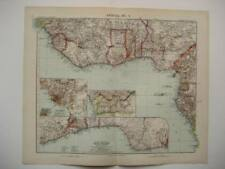 ANTIQUE STIELER NORTH WEST AFRICA MAP 1905