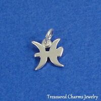 .925 Sterling Silver PISCES ZODIAC SIGN CHARM PENDANT