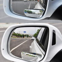 2PCS Car Rearview Blind Spot Side Adjustable Rear View Mirror Convex Wide Angle