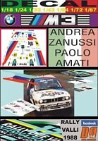DECAL BMW M3 ANDREA ZANUSSI RALLY VALLI 1988 (01)