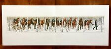 "Bev Doolittle TWO INDIAN HORSES ""Where Silence Speaks"" 31x5 Print. Rare, MINT."