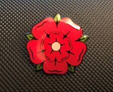 LANCASHIRE ROSE ENAMEL PIN BADGE GIFT  (PB28) BIGGER THAN OTHERS