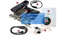 Premium Analog CATV Tuner / FM Tuner + Video Recorder PCI Card For Desktop PC