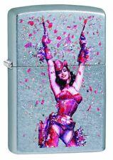 Zippo Olivia Frau Pink Lady Sexy 60003976 Lighter Benzin Sturm Feuerzeug