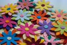 Triple Layered Felt Flowers (pack of 8) Die Cut Floral Craft Embellishments