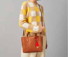 ON HAND Authentic Tory Burch Perry Small Tote Bag - Light Umber Brown