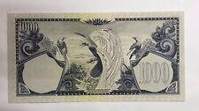 1959 Indonesia 1000 rupiah prefix DZ/1 88890 banknote very scare  Unc!