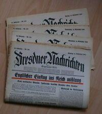Verk. 4 alte Zeitungen Dresden Nachrichten 12. bis 15.09.1940